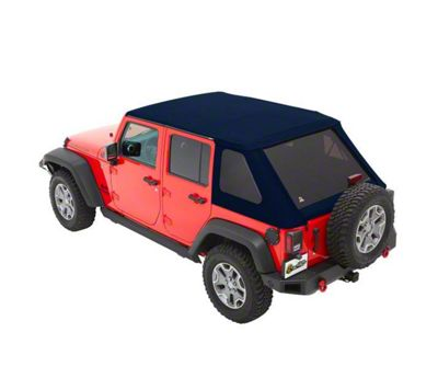 Bestop The All New Trektop NX Soft Top - Blue Twill (07-18 Jeep Wrangler JK 4 Door)