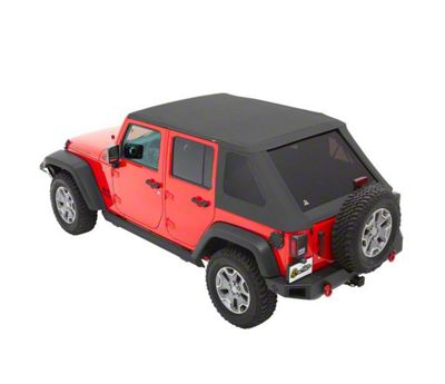 Bestop The All New Trektop NX Soft Top - Gray Twill (07-18 Jeep Wrangler JK 4 Door)