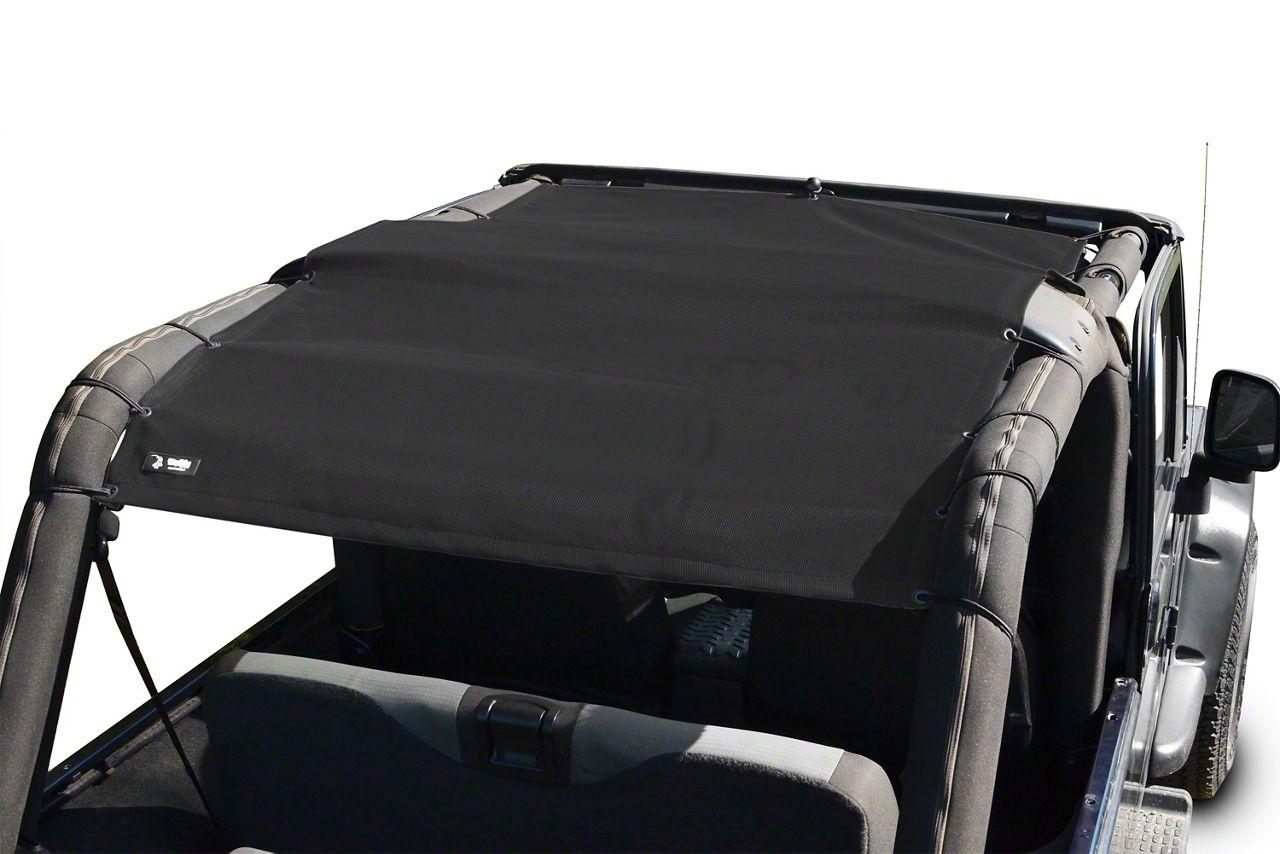 Steinjager Teddy Top Full Length Solar Screen Cover - Black (04-06 Jeep Wrangler TJ Unlimited)