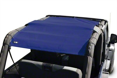 Steinjager Teddy Top Full Length Solar Screen Cover - Blue (04-06 Jeep Wrangler TJ Unlimited)