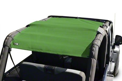 Steinjager Teddy Top Full Length Solar Screen Cover - Green (04-06 Jeep Wrangler TJ Unlimited)