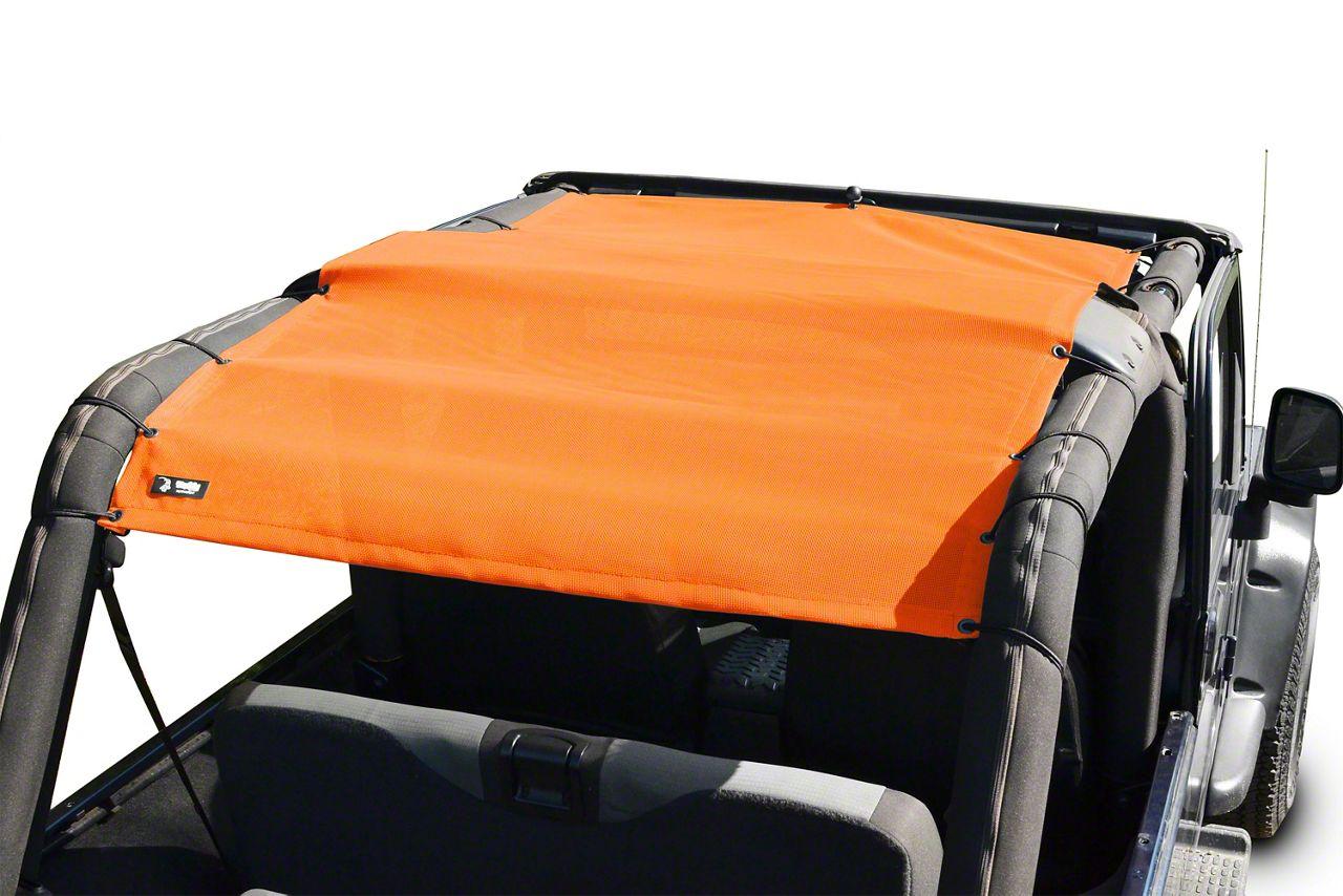 Steinjager Teddy Top Full Length Solar Screen Cover - Orange (04-06 Jeep Wrangler TJ Unlimited)
