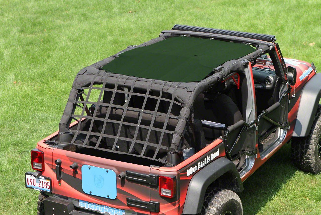 Steinjager Teddy Top Solar Screen Cover - Dark Green (07-09 Jeep Wrangler JK 4 Door)