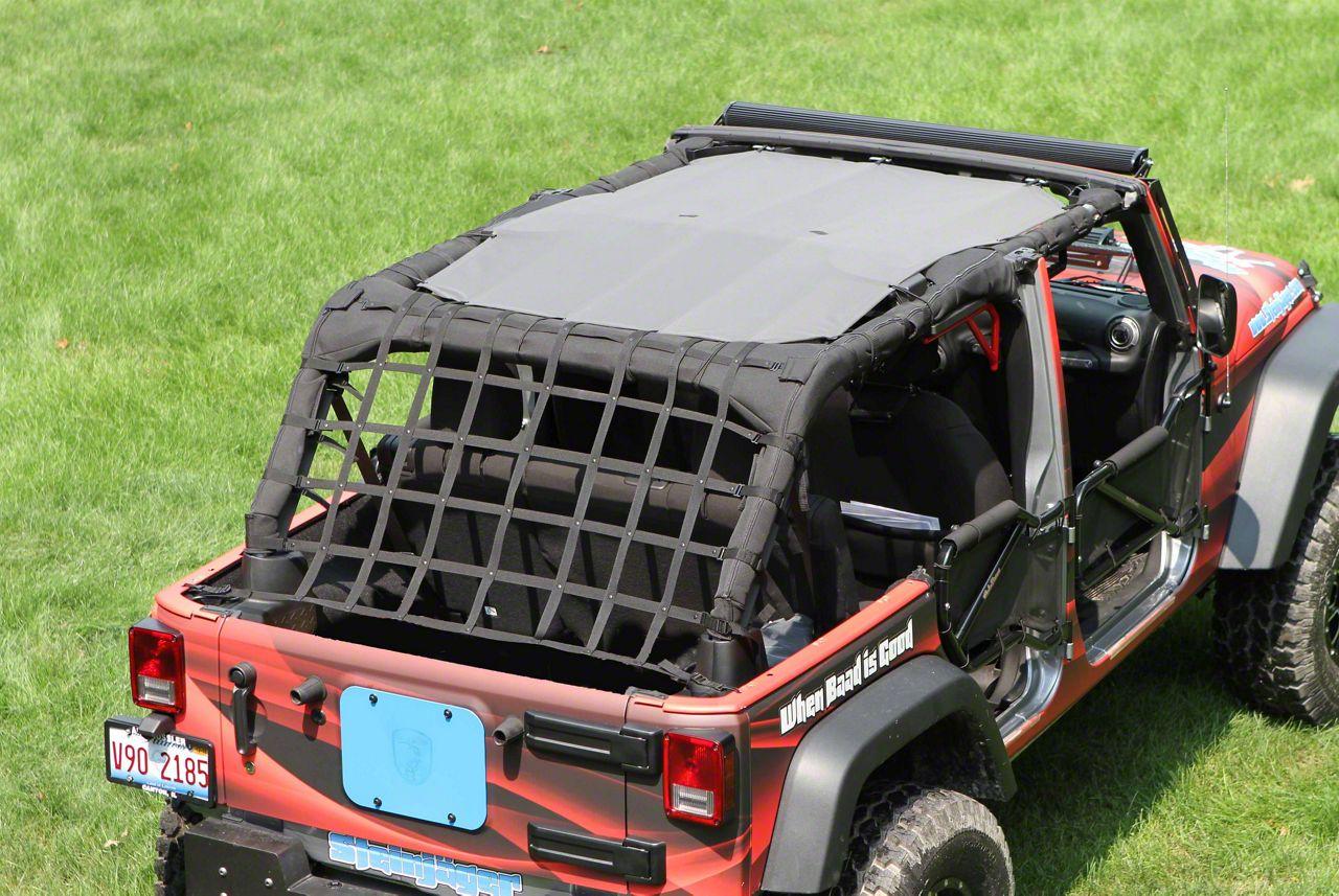 Steinjager Teddy Top Solar Screen Cover - Gray (07-09 Jeep Wrangler JK 4 Door)