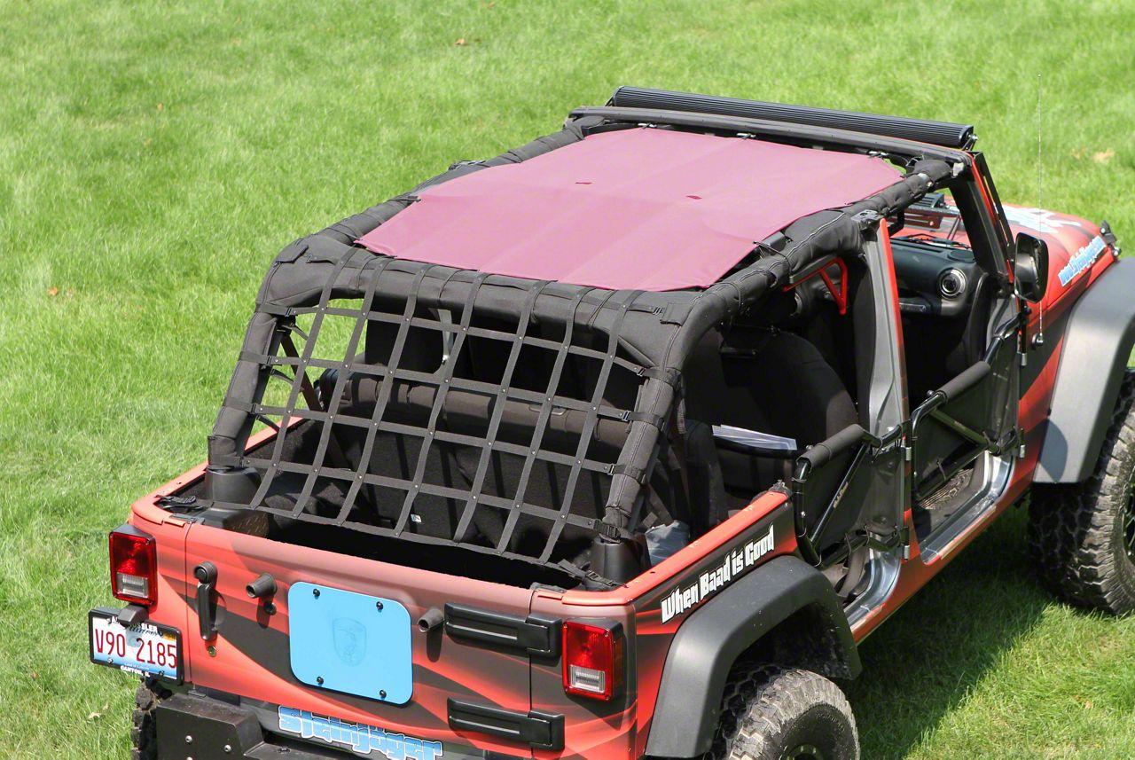 Steinjager Teddy Top Solar Screen Cover - Mauve (07-09 Jeep Wrangler JK 4 Door)
