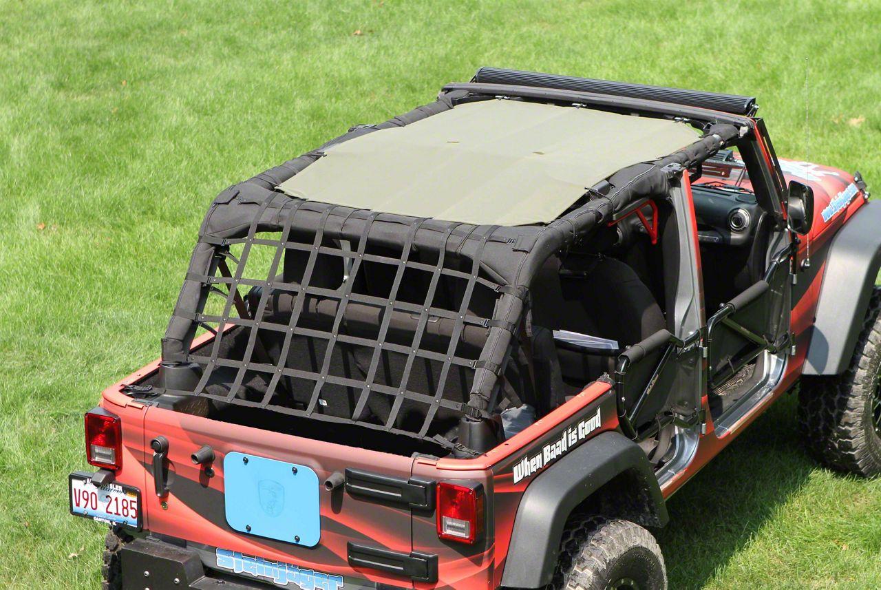 Steinjager Teddy Top Solar Screen Cover - Tan (07-09 Jeep Wrangler JK 4 Door)