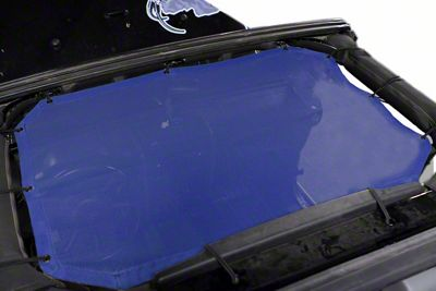 Steinjager Teddy Top Front Seat Solar Screen Cover - Blue (07-09 Jeep Wrangler JK)