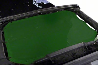 Steinjager Teddy Top Front Seat Solar Screen Cover - Green (07-09 Jeep Wrangler JK)