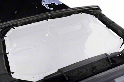 Steinjager Teddy Top Front Seat Solar Screen Cover - White (07-09 Jeep Wrangler JK)