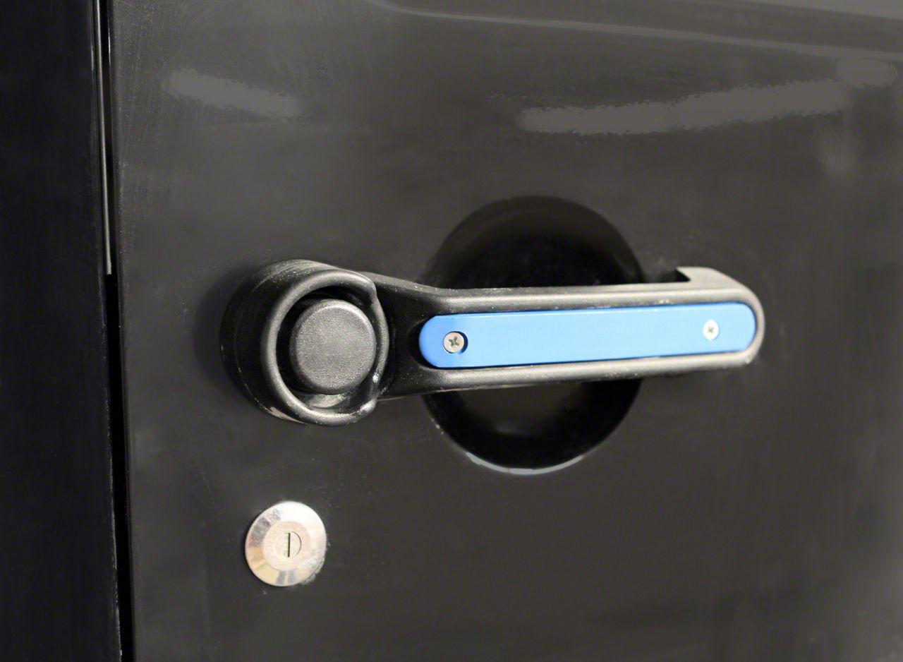 Steinjager Door & Tailgate Handle Accent Kit - Playboy Blue (07-18 Jeep Wrangler JK 2 Door)