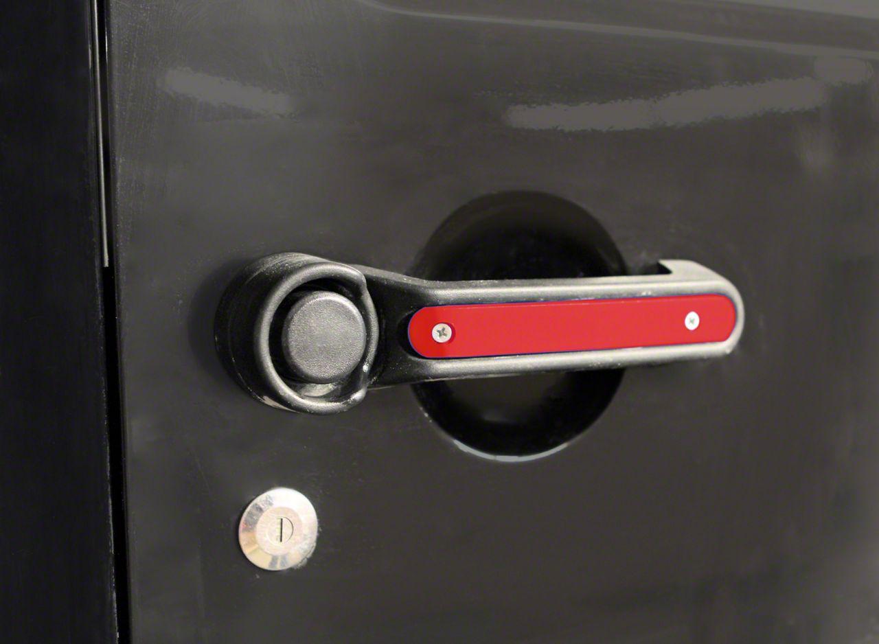Steinjager Door & Tailgate Handle Accent Kit - Red Baron (07-18 Jeep Wrangler JK 2 Door)