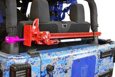 Steinjager High Lift Jack Roll Bar Mount Kit - Hot Pink (07-18 Jeep Wrangler JK 2 Door)