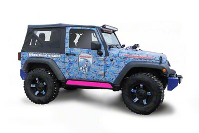 Steinjager Phantom Rock Slider Insert Kit - Hot Pink (07-18 Jeep Wrangler JK 2 Door)