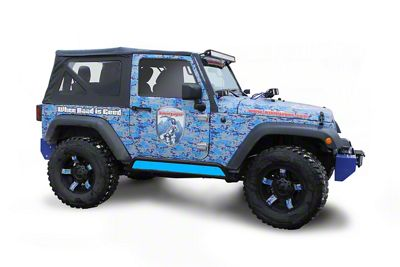 Steinjager Phantom Rock Slider Insert Kit - Playboy Blue (07-18 Jeep Wrangler JK 2 Door)