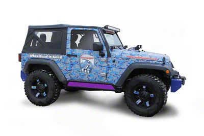 Steinjager Phantom Rock Slider Insert Kit - Sinbad Purple (07-18 Jeep Wrangler JK 2 Door)