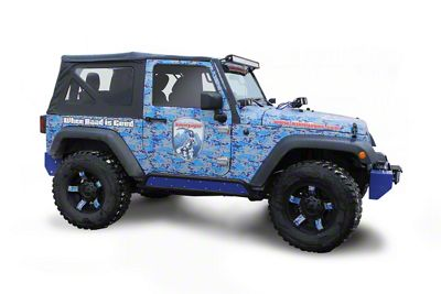 Steinjager Phantom Rock Slider Insert Kit - Southwest Blue (07-18 Jeep Wrangler JK 2 Door)