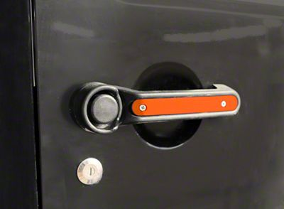 Steinjager Door & Tailgate Handle Accent Kit - Fluorescent Orange (07-18 Jeep Wrangler JK 4 Door)