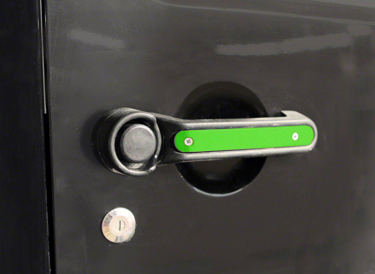 Steinjager Door & Tailgate Handle Accent Kit - Neon Green (07-18 Jeep Wrangler JK 4 Door)