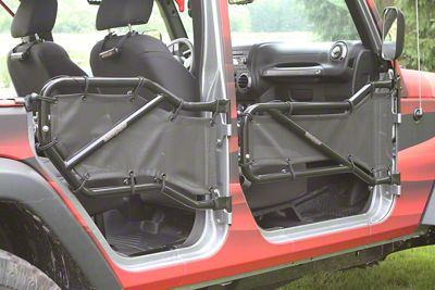 Steinjager Front & Rear Tube Doors - Black (07-18 Jeep Wrangler JK 4 Door)