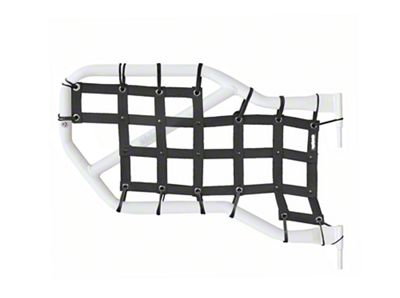 Steinjager Rear Tube Door Cargo Net Covers - Black (07-18 Jeep Wrangler JK 4 Door)