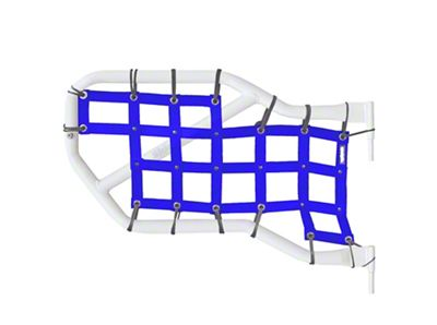 Steinjager Rear Tube Door Cargo Net Covers - Blue (07-18 Jeep Wrangler JK 4 Door)