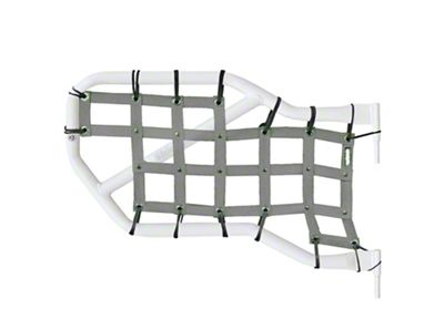 Steinjager Rear Tube Door Cargo Net Covers - Gray (07-18 Jeep Wrangler JK 4 Door)