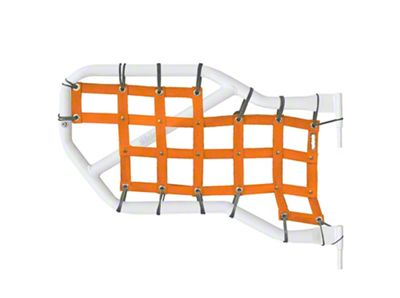Steinjager Rear Tube Door Cargo Net Covers - Orange (07-18 Jeep Wrangler JK 4 Door)