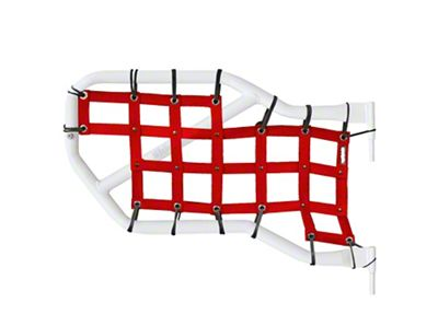 Steinjager Rear Tube Door Cargo Net Covers - Red (07-18 Jeep Wrangler JK 4 Door)