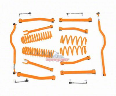 Steinjager 2.5 in. Advanced Lift Kit - Fluorescent Orange (07-18 Jeep Wrangler JK)