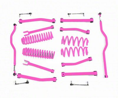Steinjager 2.5 in. Advanced Lift Kit - Hot Pink (07-18 Jeep Wrangler JK)