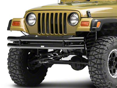Rugged Ridge Tubular Front Bumper - Gloss Black (87-06 Jeep Wrangler YJ & TJ)