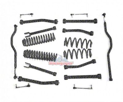 Steinjager 2.5 in. Advanced Lift Kit - Textured Black (07-18 Jeep Wrangler JK)