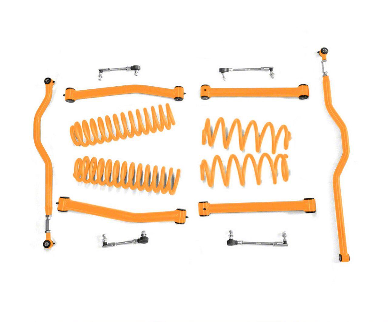 Steinjager 2.5 in. Expanded Lift Kit for Right Hand Drive - Fluorescent Orange (07-18 Jeep Wrangler JK)