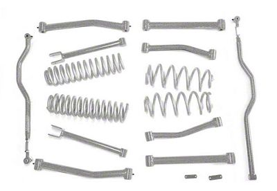Steinjager 4 in. Advanced Lift Kit - Gray Hammertone (07-18 Jeep Wrangler JK)