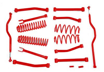 Steinjager 4 in. Advanced Lift Kit - Red Baron (07-18 Jeep Wrangler JK)