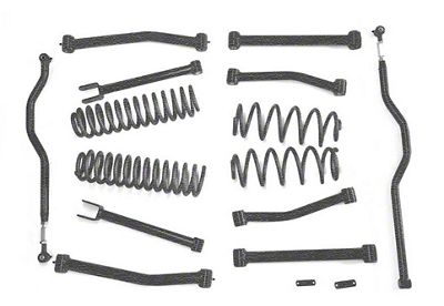 Steinjager 4 in. Advanced Lift Kit - Textured Black (07-18 Jeep Wrangler JK)