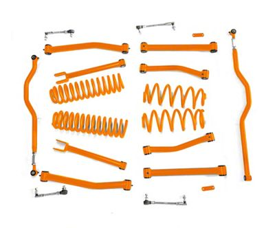 Steinjager 4 in. Advanced Lift Kit for Right Hand Drive - Fluorescent Orange (07-18 Jeep Wrangler JK)