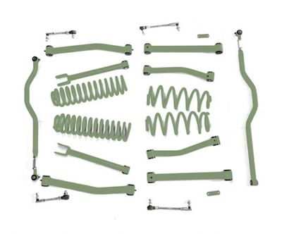 Steinjager 4 in. Advanced Lift Kit for Right Hand Drive - Locas Green (07-18 Jeep Wrangler JK)