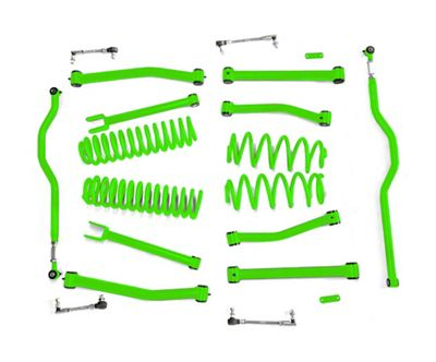 Steinjager 4 in. Advanced Lift Kit for Right Hand Drive - Neon Green (07-18 Jeep Wrangler JK)