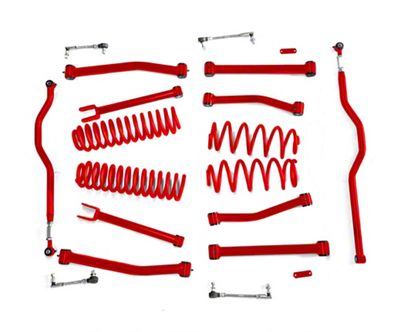 Steinjager 4 in. Advanced Lift Kit for Right Hand Drive - Red Baron (07-18 Jeep Wrangler JK)