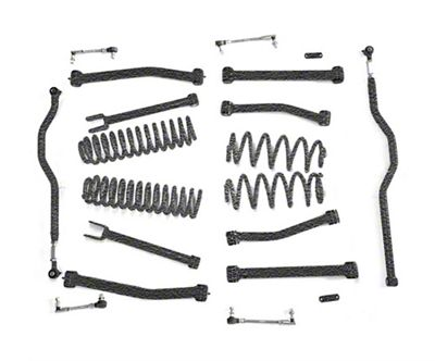 Steinjager 4 in. Advanced Lift Kit for Right Hand Drive - Textured Black (07-18 Jeep Wrangler JK)