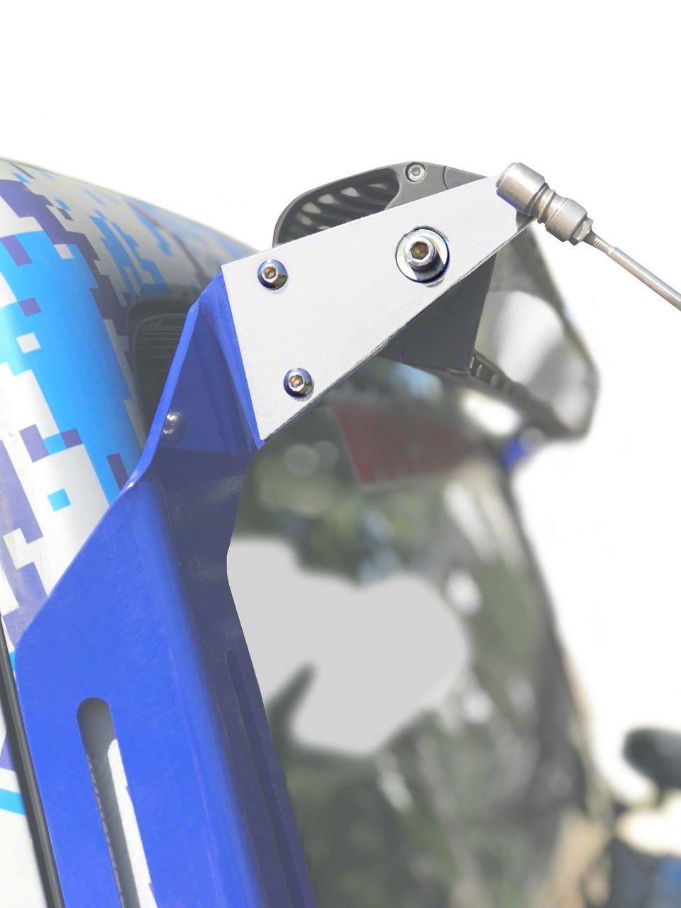 Steinjager A-Pillar Limb Riser Adaptor Brackets - Cloud White (07-18 Jeep Wrangler JK)