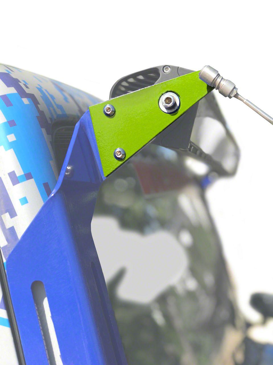 Steinjager A-Pillar Limb Riser Adaptor Brackets - Gecko Green (07-18 Jeep Wrangler JK)
