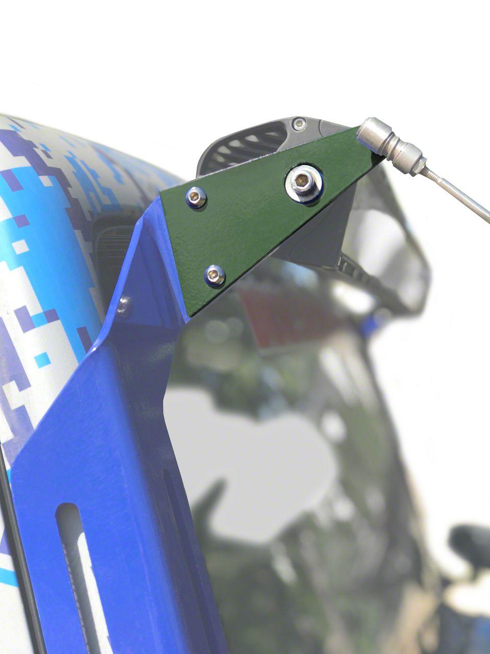 Steinjager A-Pillar Limb Riser Adaptor Brackets - Locas Green (07-18 Jeep Wrangler JK)