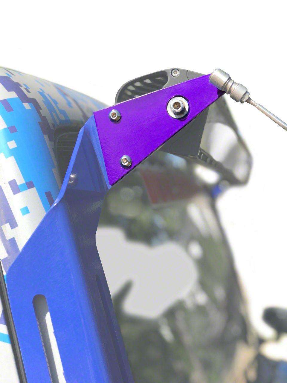 Steinjager A-Pillar Limb Riser Adaptor Brackets - Sinbad Purple (07-18 Jeep Wrangler JK)
