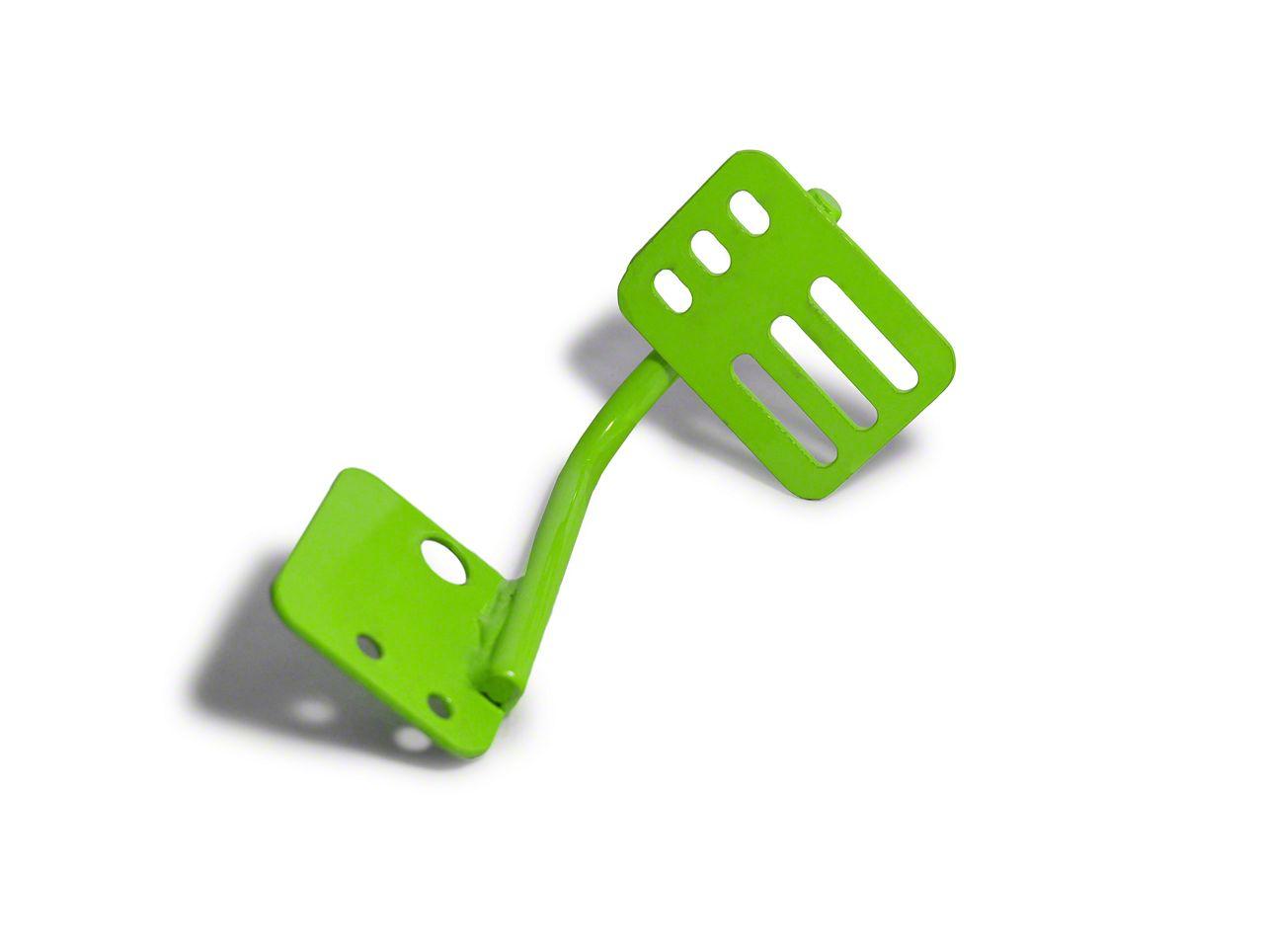 Steinjager Dead Pedal - Neon Green (07-18 Jeep Wrangler JK)