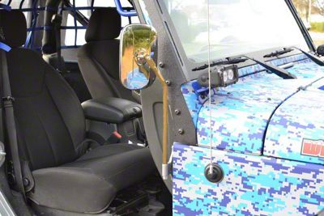 Steinjager Door Hinge Mounted Mirrors - Military Beige (07-18 Jeep Wrangler JK)