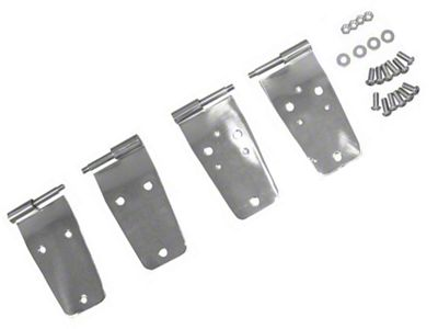 Rugged Ridge Full Door Hinge Set 4 Pcs Stainless Steel (87-93 Jeep Wrangler YJ)