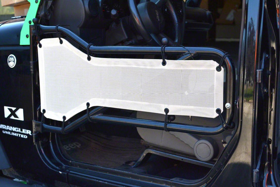 Steinjager Front Tube Door Mesh Covers - White (07-18 Jeep Wrangler JK)