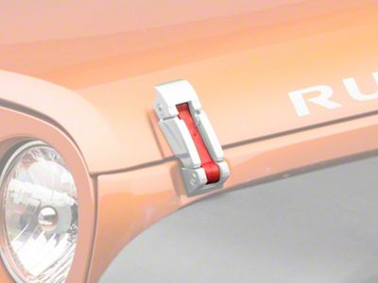 Steinjager Hood Latch Kit - Poly Red (07-18 Jeep Wrangler JK)